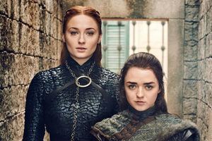 Sansa And Arya Stark Game Of Thrones Season 8 Wallpaper