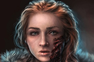 Sansa Stark Art Wallpaper