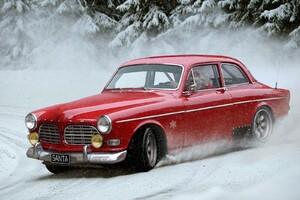 Santa Claus Drifting Car Wallpaper