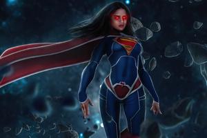 Sasha Calle As Supergirl Glowing Eyes 5k