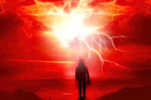 Satan Fall Like Lightning Wallpaper