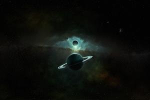 Saturn Planet Art 4k