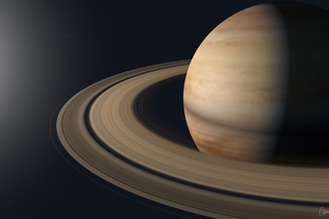 Saturn Planet Rings Dark 4k Wallpaper