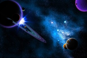 Saturn Planets Digital Universe 10k Wallpaper