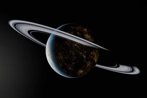 Saturn Rings Dark 5k Wallpaper