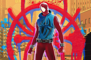 Scarlet Spider Appearance In Spider Verse Movie 5k Wallpaper