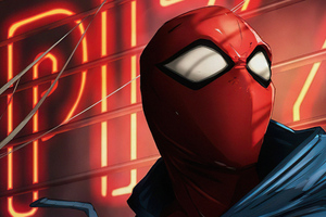 Scarlet Spiderman Art 4k Wallpaper