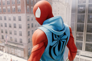 Scarlet Spiderman Ps4 4k New Suit