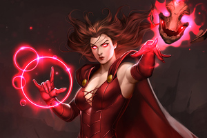 Scarlet Witch 4K Art Wallpaper