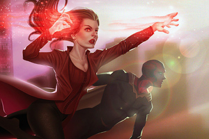 Scarlet Witch And Vision Wanda Maximoff 4k Wallpaper