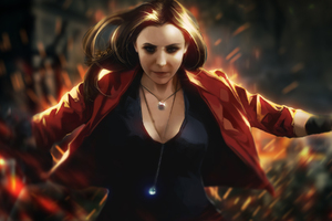 Scarlet Witch Artwork Wallpaper