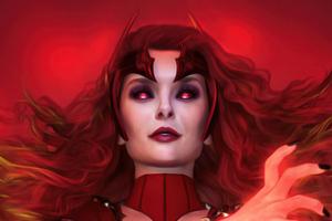 Scarlet Witch Fan Art 4k Wallpaper