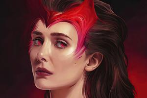 Scarlet Witch Fanart 4k Wallpaper