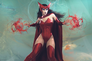 Scarlet Witch Girl 4k