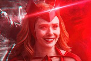 Scarlet Witch Illustrator 4k Wallpaper