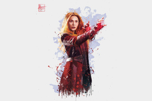 Scarlet Witch In Avengers Infinity War 2018 4k Artwork