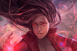 Scarlet Witch In Avengers Infinity War Artwork Wallpaper