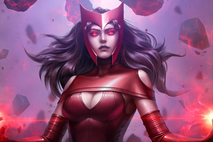 Scarlet Witch In Future Fight Wallpaper