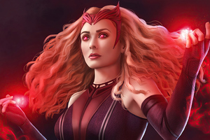 Scarlet Witch Magic Girl 4k