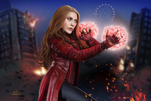 Scarlet Witch New Artwork Wallpaper