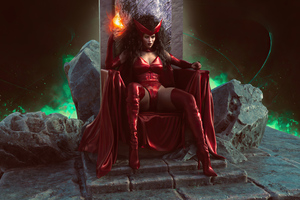 Scarlet Witch Power 4k Cosplay Wallpaper