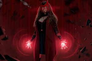 Scarlet Witch Red Powers 4k Wallpaper