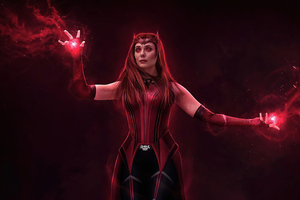 Scarlet Witch Switched Back 4k