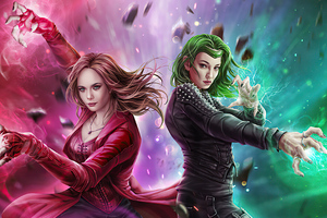Scarlet Witch Vs Polaris Wallpaper