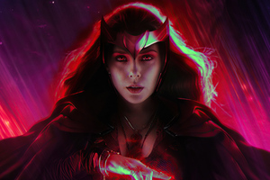 Scarlet Witch Wandavision 2020 4k Wallpaper