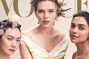 Scarlett Johansson And Global Actresses Vogue 2019 Wallpaper