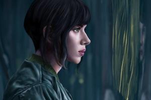 Scarlett Johansson Artwork Ghost In The Shell Wallpaper