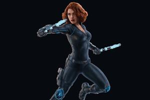 Scarlett Johansson Black Widow 4k 2018