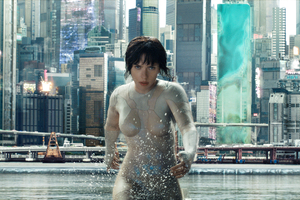 Scarlett Johansson In Ghost In The Shell Movie HD