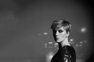 Scarlett Johansson Monochrome 2020 Wallpaper