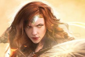 Scarlett Johansson Wonder Woman Wallpaper