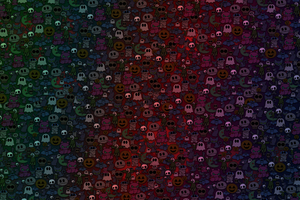 Scary Ghosts Abstract Wallpaper
