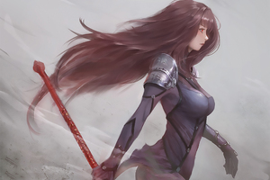 Scathach Fate Grand Order Artwork