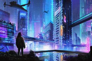 Scavenger Cityscape Cyberpunk 5k Wallpaper