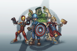School Yard Avengers Wallpaper
