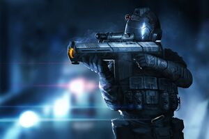 Sci Fi Soldier With Shield 4k