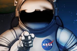 Scifi Astronaut Space Man Wallpaper