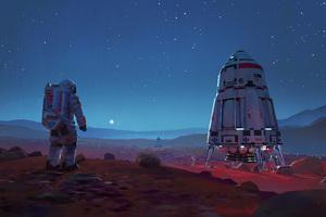 Scifi Astronaut Space Mars