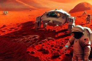 Scifi Astronaut Space Mars Rover 4k