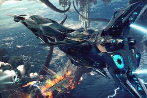 Scifi Battlefield 4k