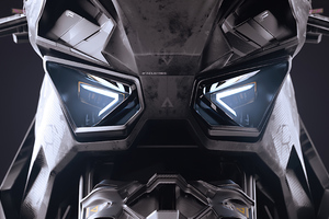 Scifi Bike Headlights 4k