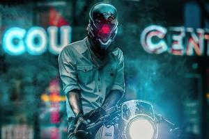 Scifi Biker Boy 4k