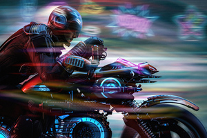 Scifi Biker From Scifi City 5k Wallpaper