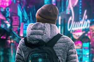 Scifi Boy Winter Hat 4k