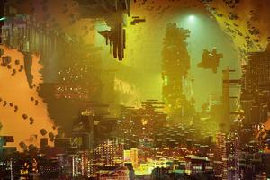 Scifi City Artwork 4k
