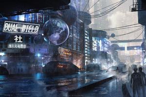 Scifi City Futuristic